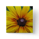 Black Eyed Susan Flower Square Pin