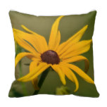 Black Eyed Susan Solitude Throw Pillow