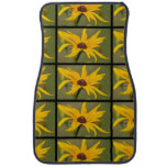 Blooming Black Eyed Susan Car Floor Mat