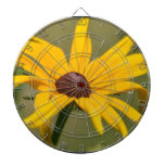 Blooming Black Eyed Susan Dartboard With Darts