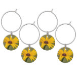 Blooming Black Eyed Susan Wine Charm