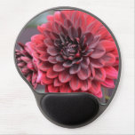 Blooming Red Dahlias Gel Mouse Pad