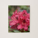 Blooming Red Rhododendron Blossoms Flowering Jigsaw Puzzle