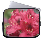 Blooming Red Rhododendron Blossoms Flowering Laptop Sleeve
