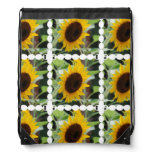 Blooming Sunflowers Drawstring Bag