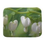 Delicate White Bleeding Heart Burp Cloth