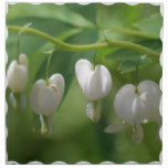 Delicate White Bleeding Heart Cloth Napkin