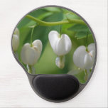 Delicate White Bleeding Heart Gel Mouse Pad