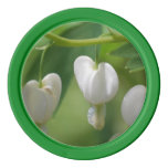 Delicate White Bleeding Heart Poker Chips Set