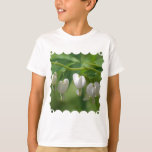 Delicate White Bleeding Heart T-Shirt