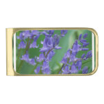 Dew on Bell Flowers Gold Finish Money Clip