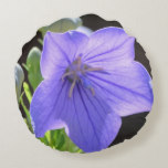 Flowering Balloon Flowers Round Pillow