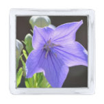 Flowering Balloon Flowers Silver Finish Lapel Pin