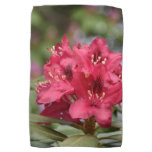 Flowering Red Rhododendron Bush in Bloom Kitchen Towel