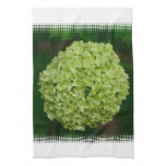 Green Hydrangea Kitchen Towel