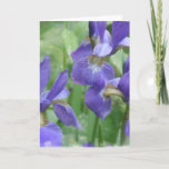 Iris Bulbs Greeting Card