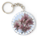 Magnolia Tree in Bloom Keychain