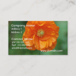 Orange California Poppy Business Card