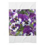 Pansies  Kitchen Towel