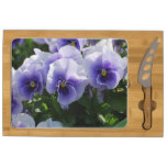 Pastel Blue Pansies Cheese Platter
