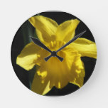 Perfect Daffodil Round Clock
