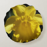 Perfect Daffodil Round Pillow
