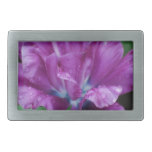 Perfectly Purple Parrot Tulip Belt Buckle