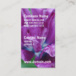 Perfectly Purple Parrot Tulip Business Card