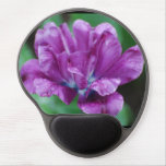 Perfectly Purple Parrot Tulip Gel Mouse Pad