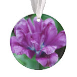 Perfectly Purple Parrot Tulip Ornament