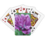 Perfectly Purple Parrot Tulip Playing Cards