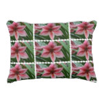 Pink Amaryllis Decorative Pillow