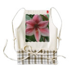 Pink Amaryllis Zazzle HEART Apron