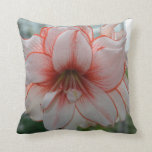 Pretty Amarylis Throw Pillow