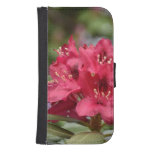 Pretty Blooming Red Rhododendron Blossom Galaxy S4 Wallet Case