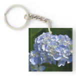 Pretty Flowering Hydrangea Flowers in Bloom Keychain
