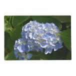 Pretty Light Blue Hydrangea Flowers Placemat