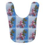 Pretty Pink Cherry Tree Baby Bib