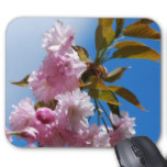 Pretty Pink Cherry Tree Mouse Pad