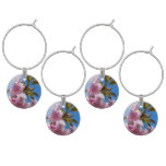 Pretty Pink Cherry Tree Wine Glass Charm