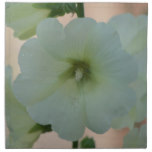 Pretty White Hollyhock Cloth Napkin