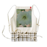 Pretty White Hollyhock Zazzle HEART Apron