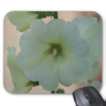 Pretty White Holyhock Mouse Pad