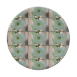 Pretty White Holyhock Paper Plate