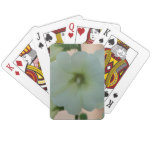 Pretty White Holyhock Playing Cards