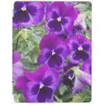Purple Pansies iPad Smart Cover