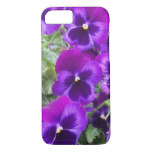 Purple Pansies iPhone 7 Case
