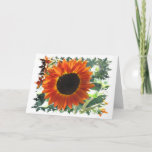 Red Sunflowers Greeting Card