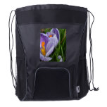 Striped Crocus Drawstring Backpack