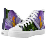Striped Crocus High-Top Sneakers